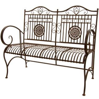 Featuring An Antique Design And A Rust Patina, This Classic Bench Offers A  Shabby Chic Touch To Your Patio Or Garden. Crafted Of Metal And A Rustic  Rust ...