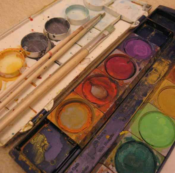 I hated the Art lessons with water color