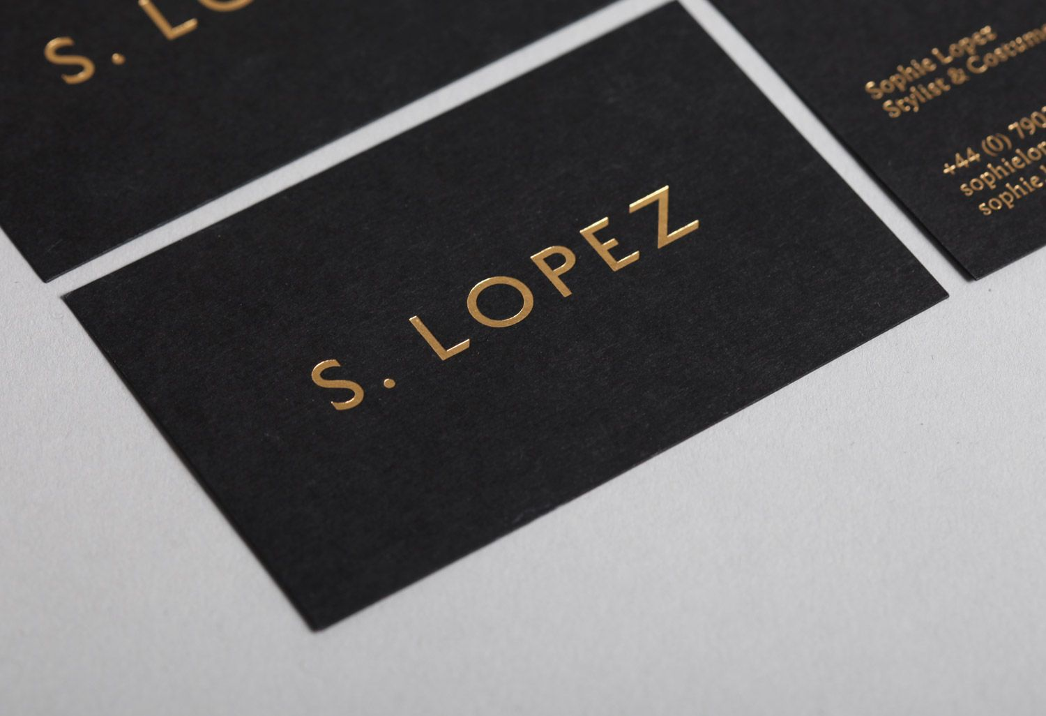 black and gold business cards by She Was Only | Design :: Identity ...