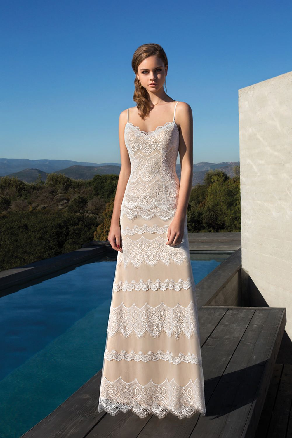 Metropolitan collection wedding dress style me tiers of