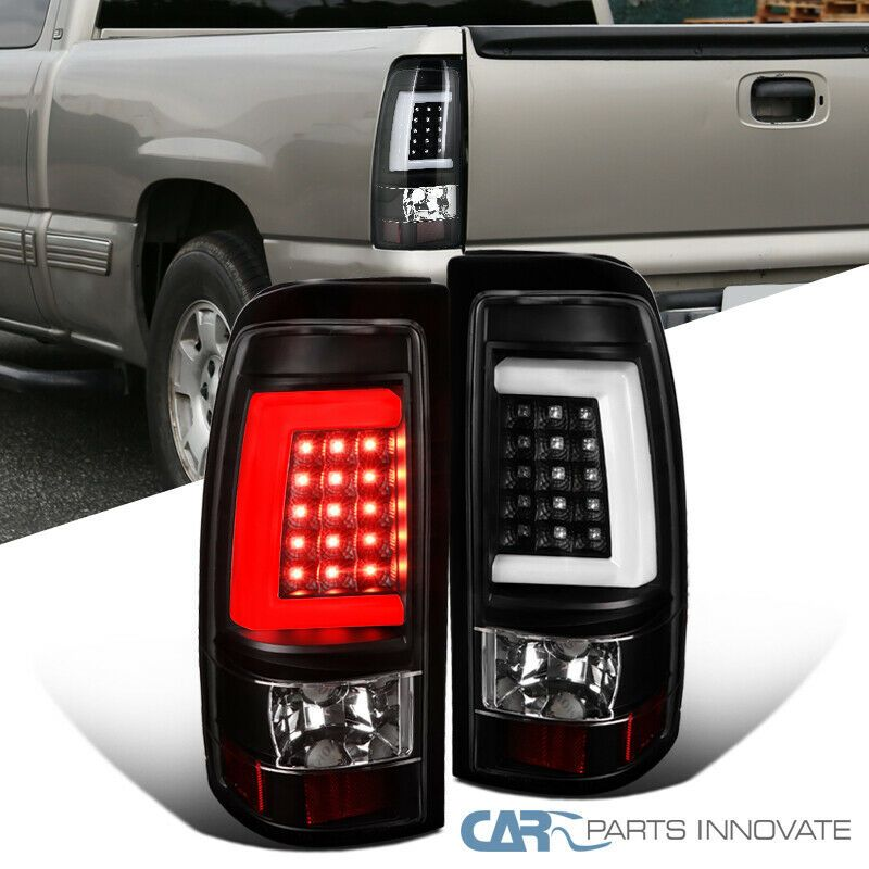 Ad Ebay 99 02 Chevy Silverado Gmc Sierra Fleetside Black Led Tube Tail Brake Lights Pair Gmc Sierra Chevy Silverado Led Tubes