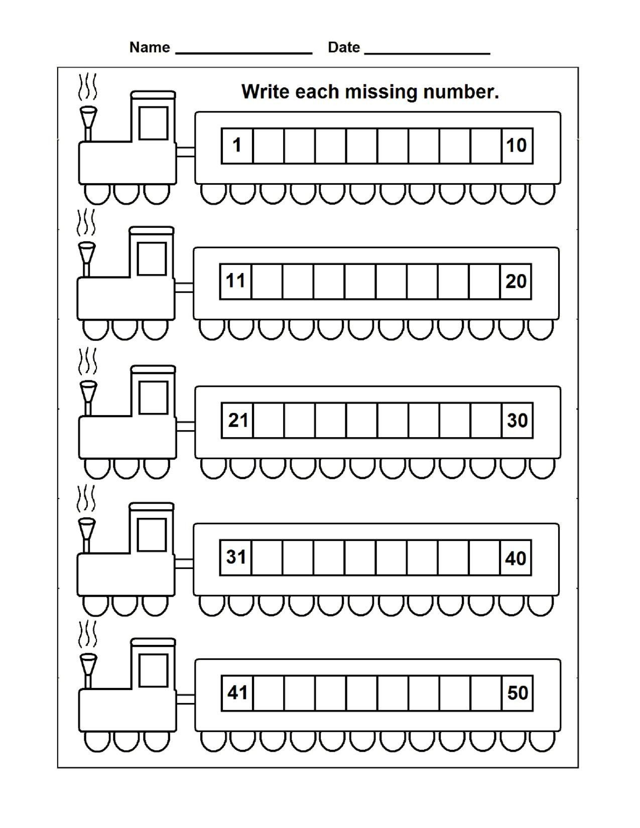 Missing Number Worksheet Kindergarten Counting Archives