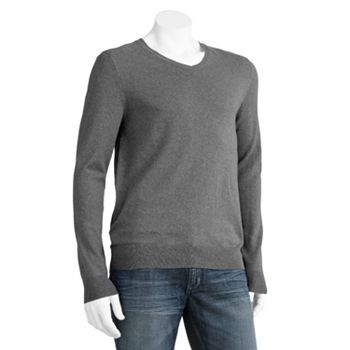 Marc Anthony Slim-Fit Solid Cashmere-Blend Sweater - Big & Tall
