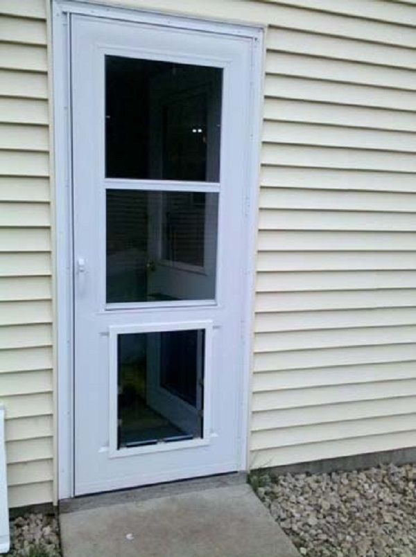 Storm Door With Pet Door Door Designs Plans Pet Door