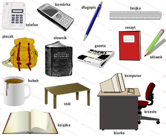 Polish Office Classroom Vocabulary Polish Language Polish