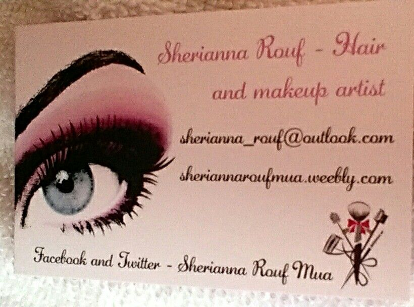 I highly recommend vistaprint if you want to make your own i highly recommend vistaprint if you want to make your own business cards this is my freelance makeup artist business card with my contact information reheart Gallery