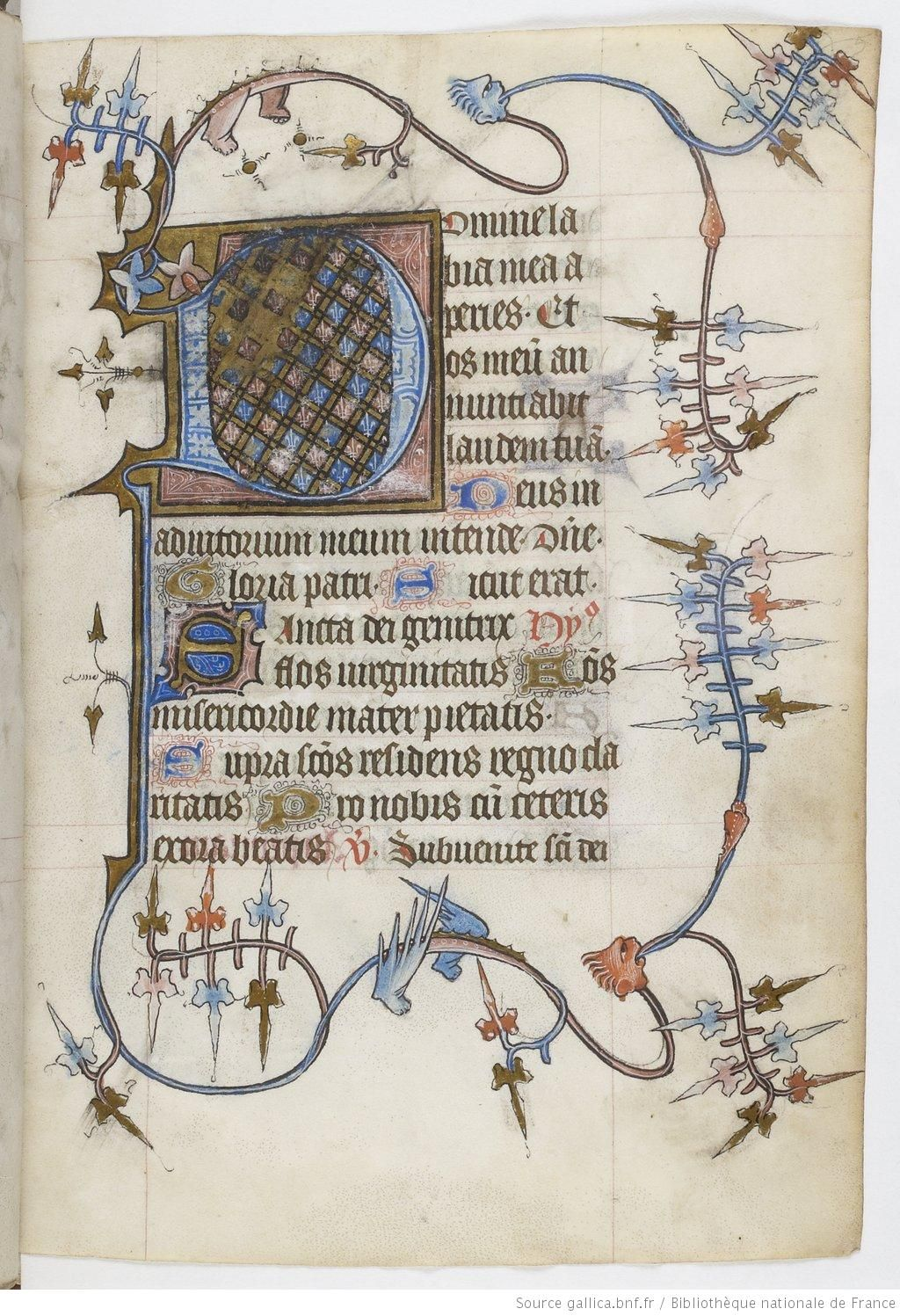 Horae 15e Siecle Bibliotheque Nationale De France Departement Des Manuscrits Nal 3112 Manuscrit Enlumine Enluminure Lettrine