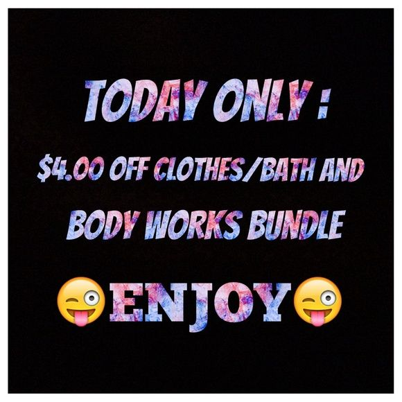 Enjoy 😜 *today only* $4.00 off clothes/ bath and body works bundle brandy Melville for publicity 😊 Brandy Melville Tops Crop Tops