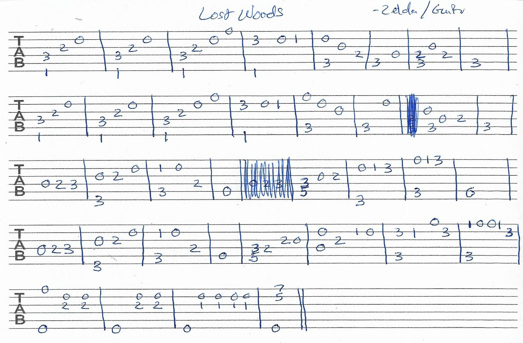 Lost Woods Zelda Guitar Tab Guitar Tabs Guitar Tabs Songs Guitar Sheet Music