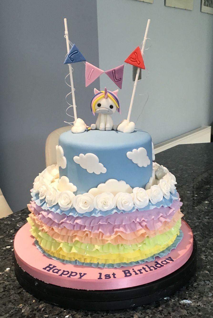 Unicorn Cake 1st Birthday Homemade Cakes Birthdays 1 Year