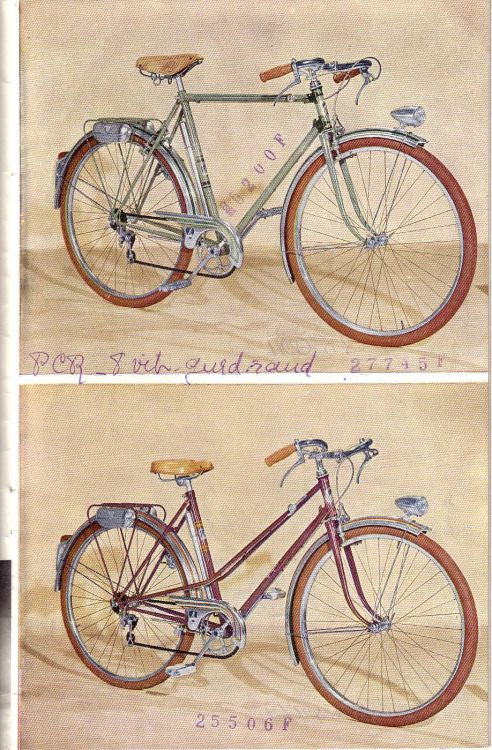 cycles peugeot 1952 brochure 7/18 | bikes -catalogues | pinterest