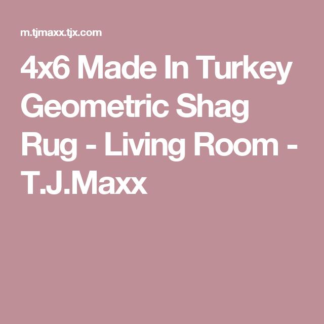 4x6 Made In Turkey Geometric Shag Rug - Living Room - T.J.Maxx ...