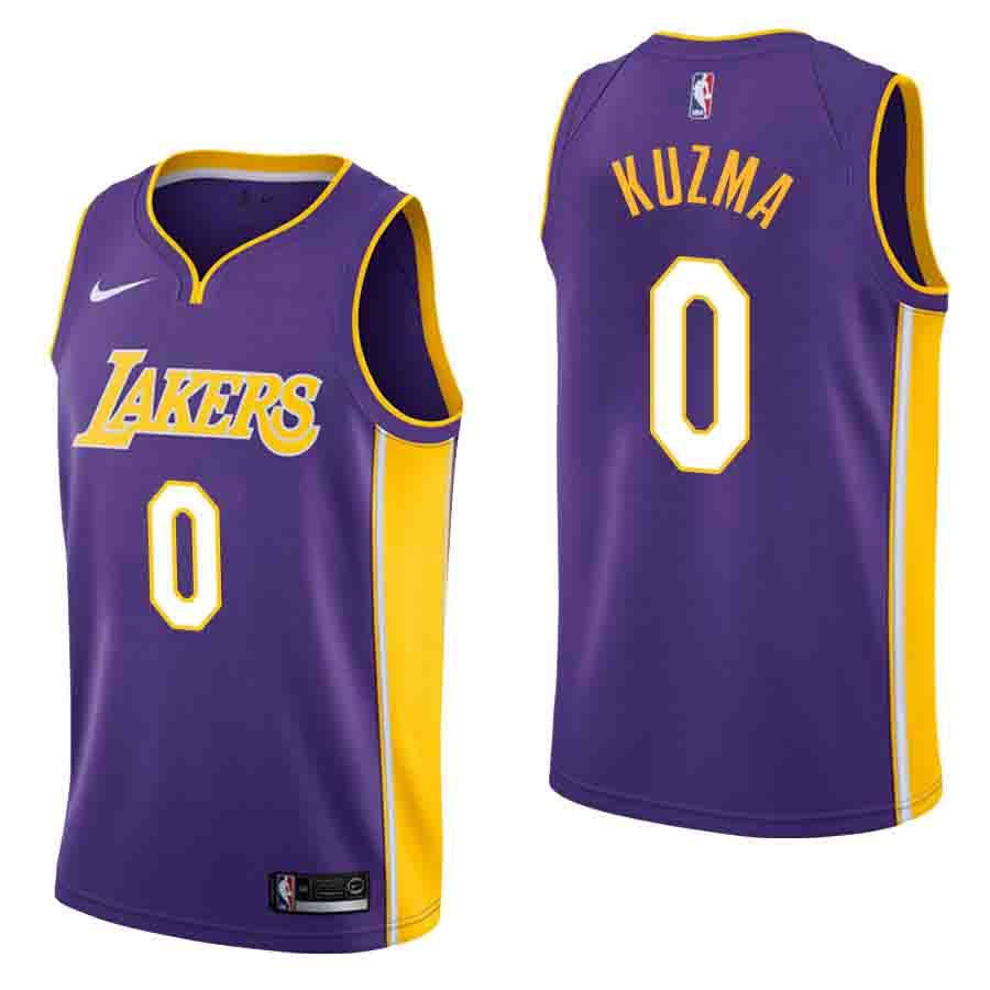 hot sale online 5c64d edce1 kyle kuzma los angeles lakers purple statement mens jersey ...