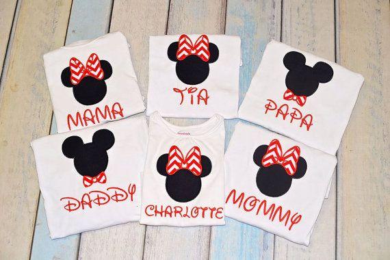 Mundo de Disney personalizada camisetas Mickey por AnnesApplique 36b22ece02e99