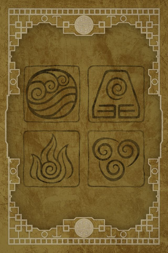 The Elements From Avatar The Last Airbender For Iphone Alternate