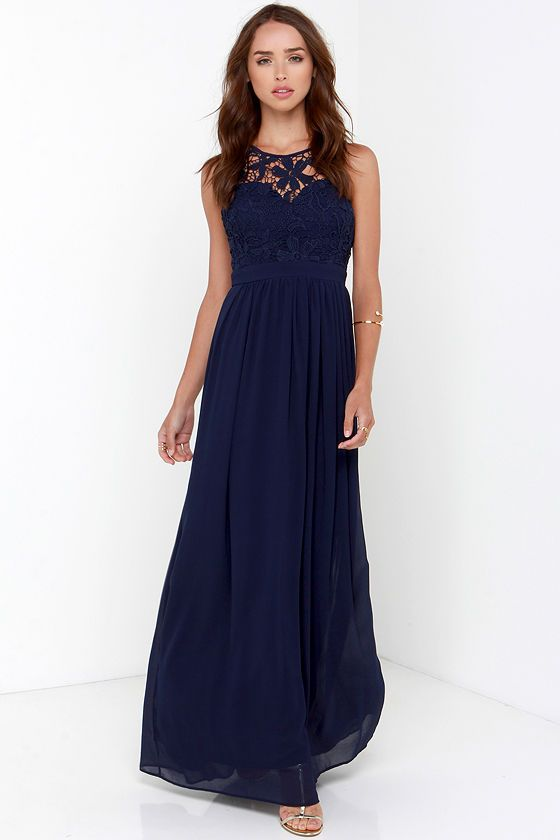 So far gown navy blue lace maxi dress maxi dresses for Navy blue maxi dress for wedding