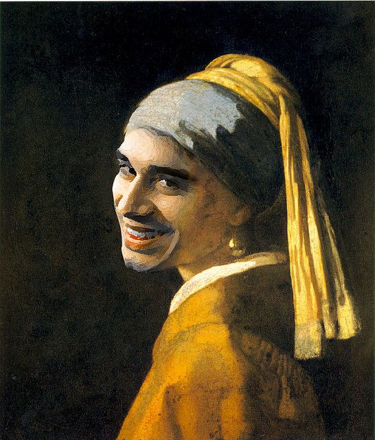 Desocupe De Photo Shop Girl With Pearl Earring Low Key