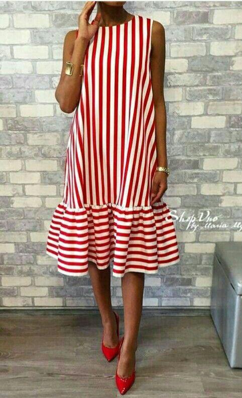 Платье в полоску   Que me pongo hoy    Pinterest   Dresses, Fashion ... 67e380ad4a6