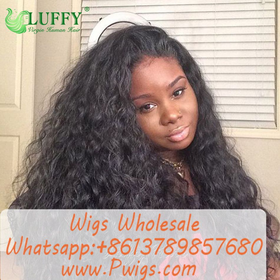 Loose Wave Full Lace Human Hair Wigs Brazilian Remy Hair For Black