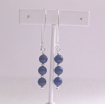 Lapis Lazuli Gemstone Beads Long Kidney Wire Dangle Earrings Drop Earrings | eBay $5.99 incl free shipping and gift bag.