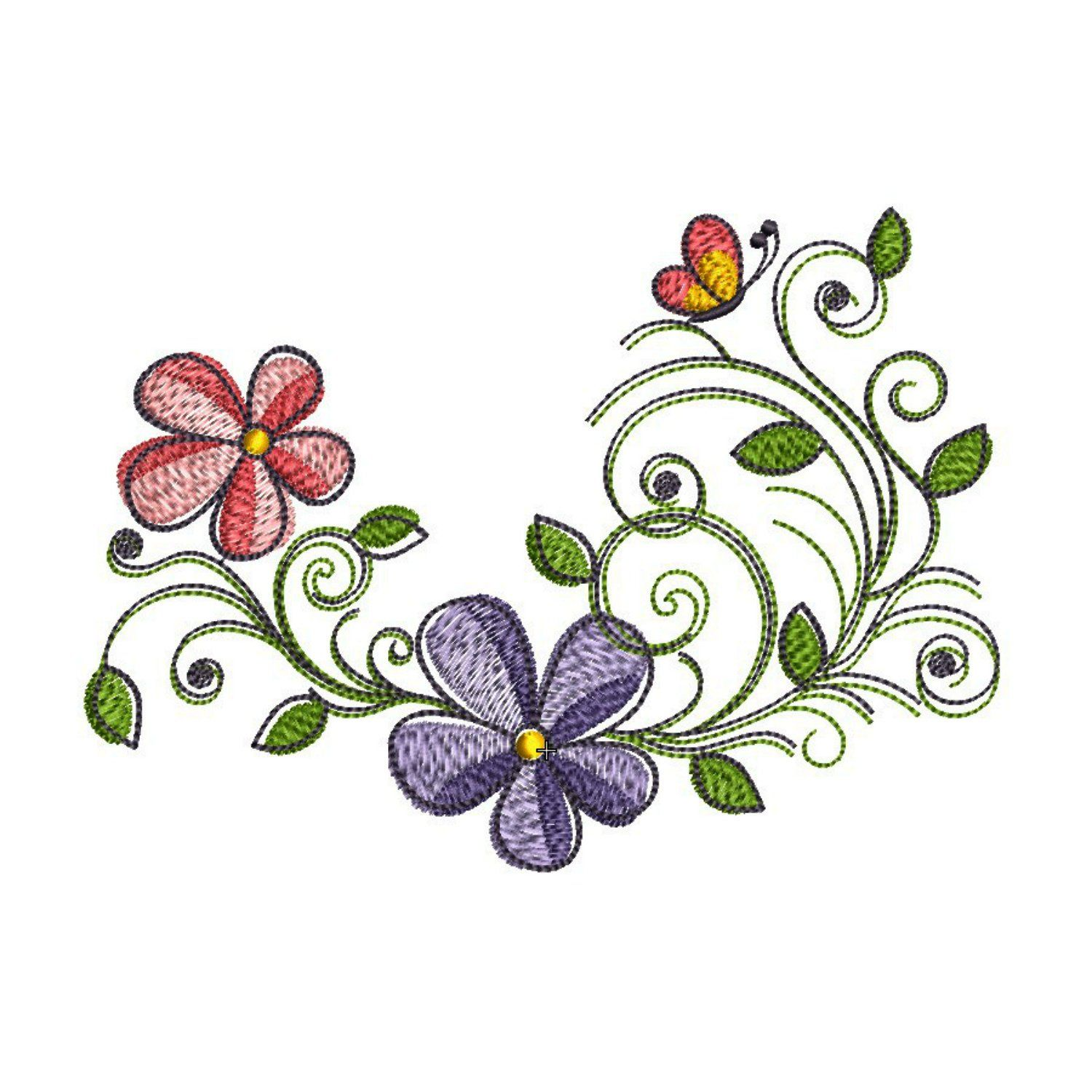Spring Flowers Embroidery Designs 5x7, INSTANT DOWNLOAD