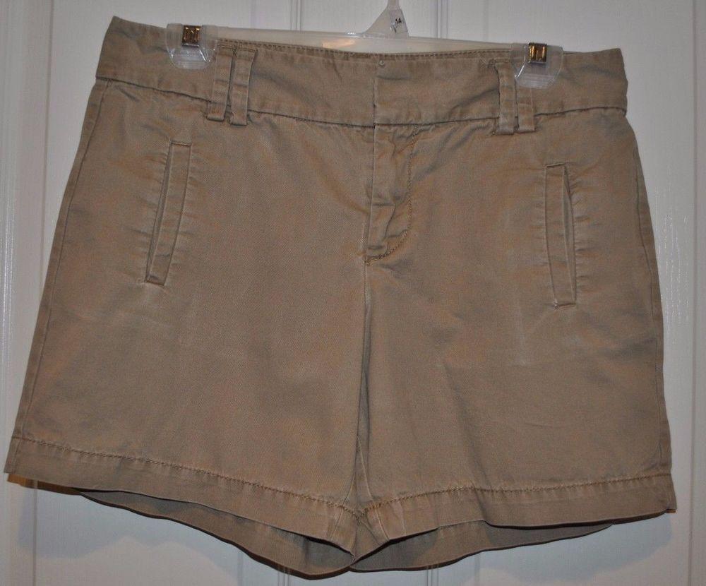 Women's Ann Taylor Loft Khaki Tan Shorts Size 6p #AnnTaylorLOFT #CasualShorts