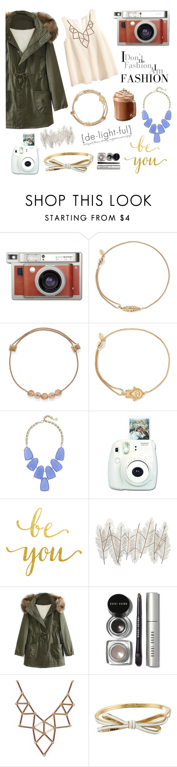 """""""I don't do fashion I am fashion"""" by abbyh8134 ❤ liked on Polyvore featuring H&M, Lomography, Alex and Ani, Kendra Scott, Universal Lighting and Decor, WithChic, Bobbi Brown Cosmetics, Chicnova Fashion, Kate Spade and women's clothing"""