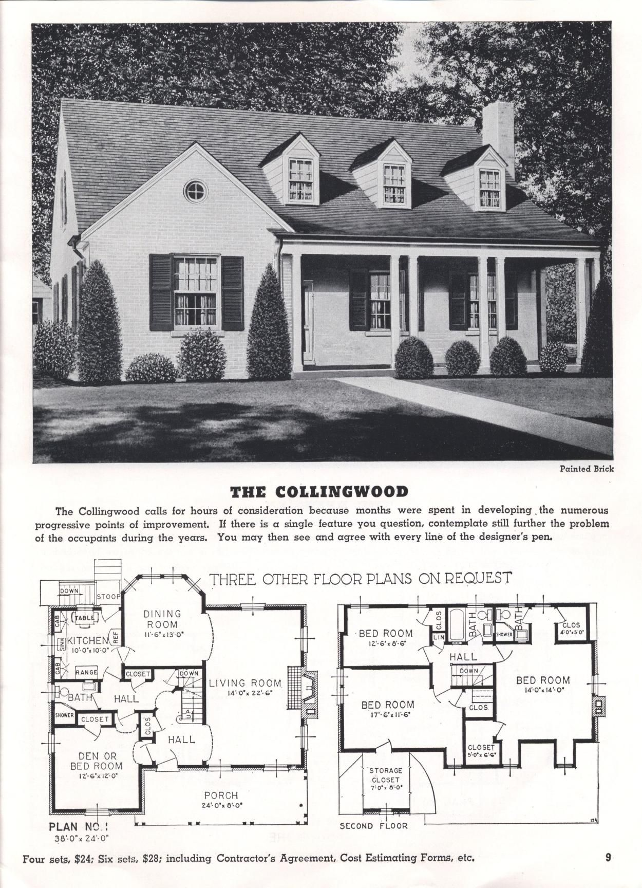 Homes Of Today And Tomorrow B 48 Standard Homes Co Free Download Borrow And Streaming Internet Archive Floor Plans House Plans Vintage Architecture