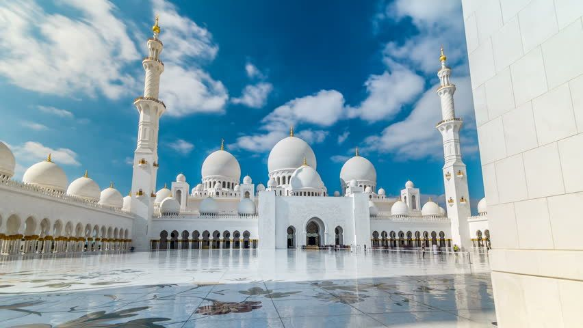 Sheikh Zayed Grand Mosque Timelapse Stock Footage