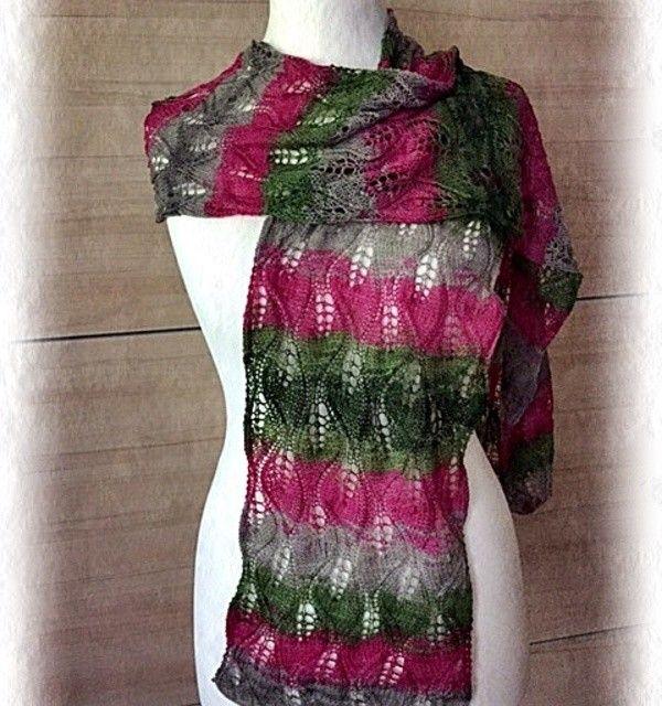 Sommerlich leichter Lace - Schal Dieser Schal wird aus sehr dünnem ...