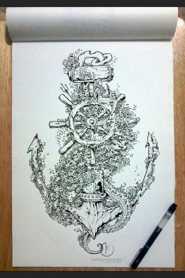 Sick Anchor Tattoo Tattoos Pinterest Hinh Minh Họa Hinh Xăm