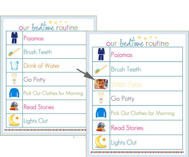Free Printable Morning Bedtime Routine Charts That You Can Edit – Daily Routine Chart Template