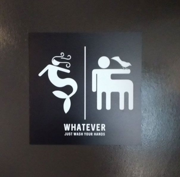 10 Of The Most Creative Bathroom Signs Ever Mermaids Monsters