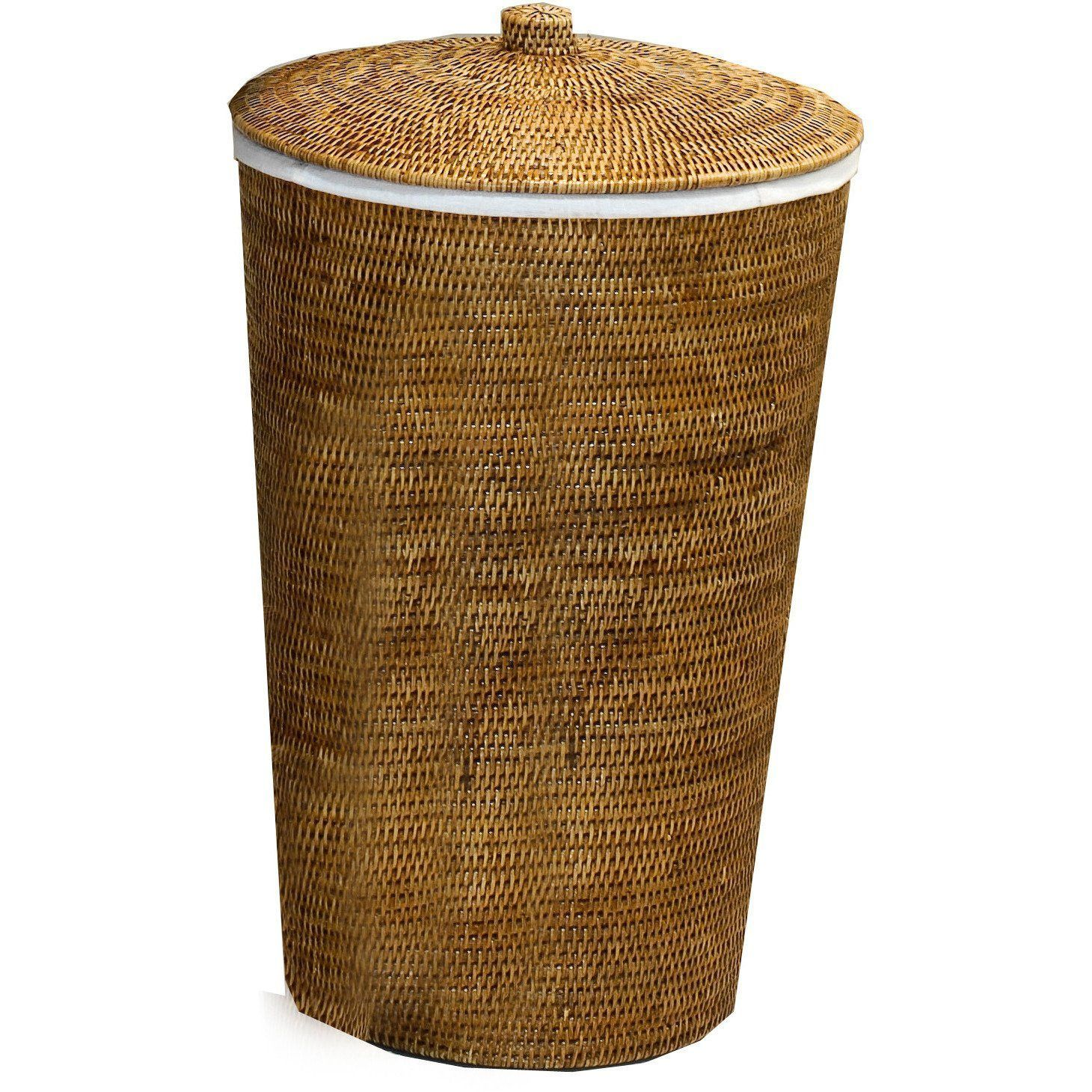 Basket Wb Laundry Hamper Basket Malacca With Lid 15 X 25 Inch