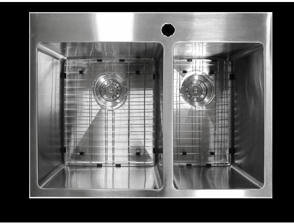 vier de cuisine double encastr en acier inoxydable 27 39 39 x 20 39 39 viers sur cuisine. Black Bedroom Furniture Sets. Home Design Ideas