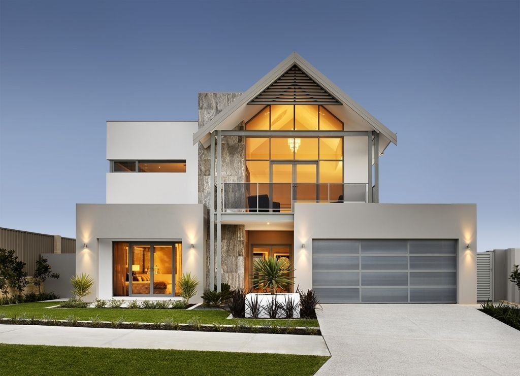 Modern double story house designs double storey house for Modern house designs australia