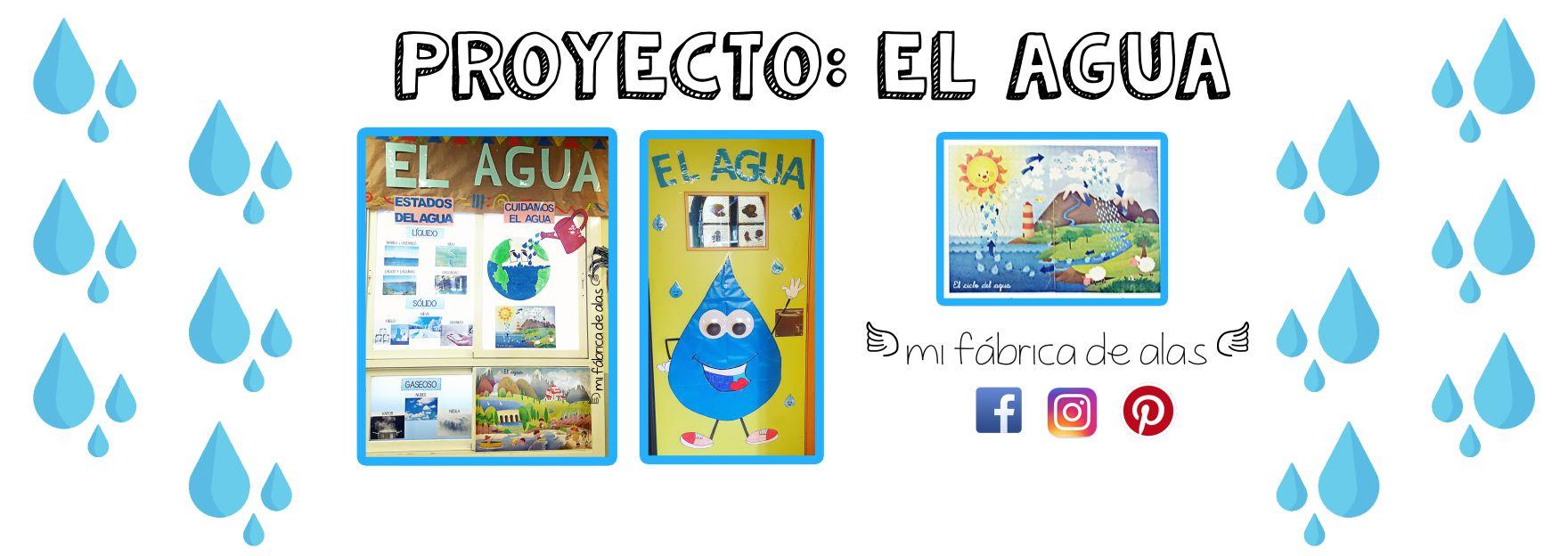 Proyecto El Agua Mi Fábrica De Alas Proyecto Agua Proyectos Educacion Infantil Fichas