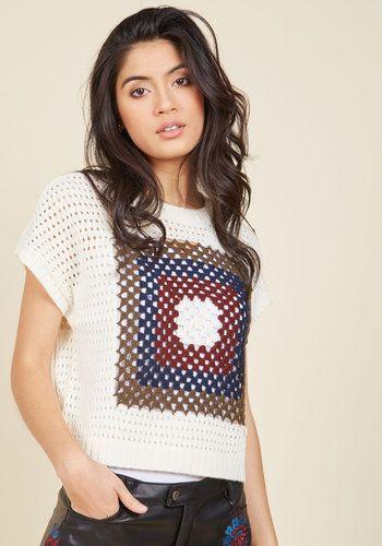 Crochet Si Bon Knit Top, @ModCloth