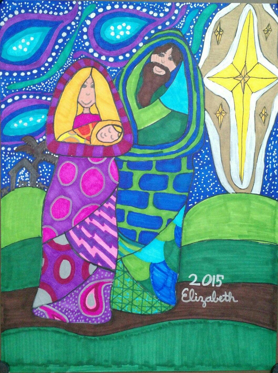 Elementary Art Christmas Art Holy Family Art Teacher