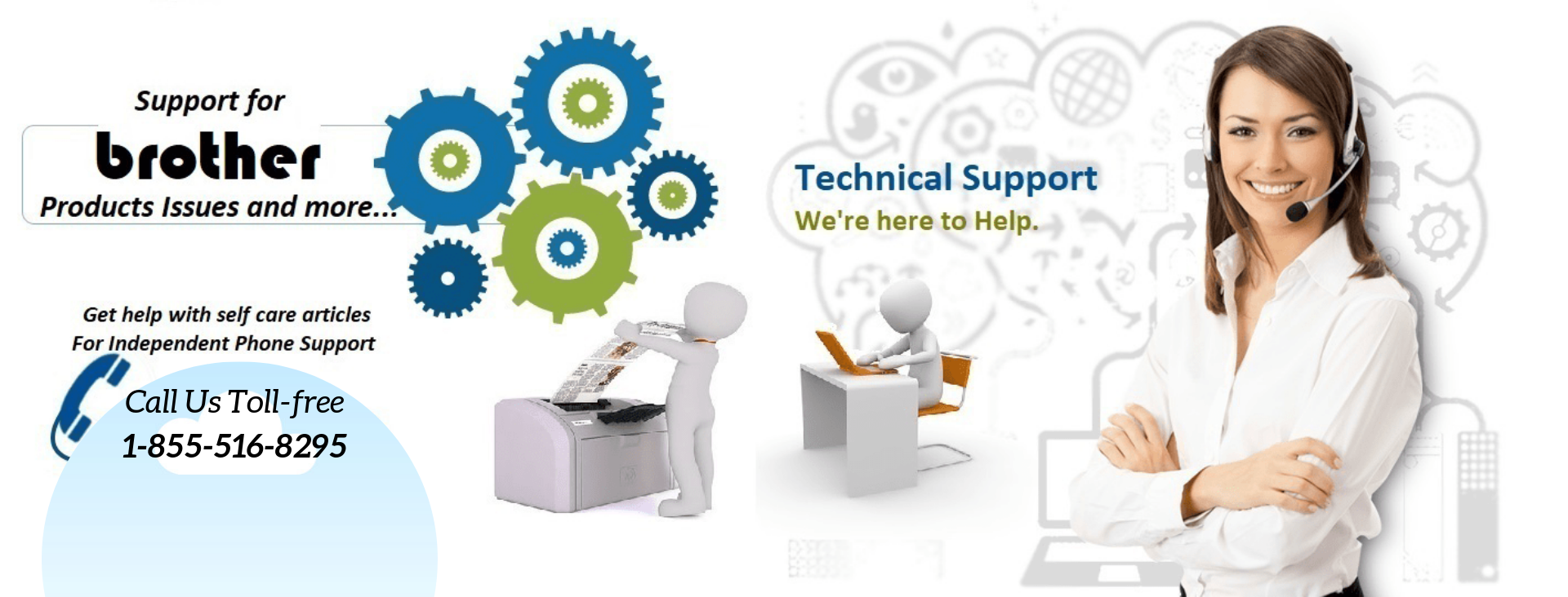Get online Brother Printer Support Number 18555168295