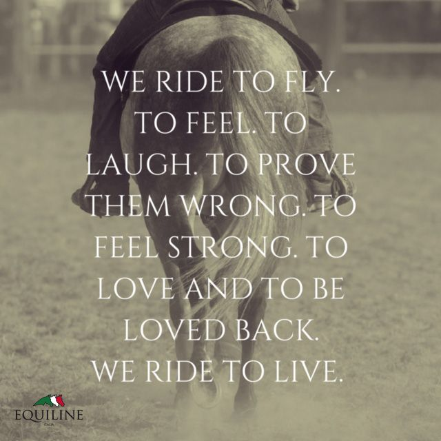 We ride to fly. To feel. To laugh. To prove them wrong. To ...