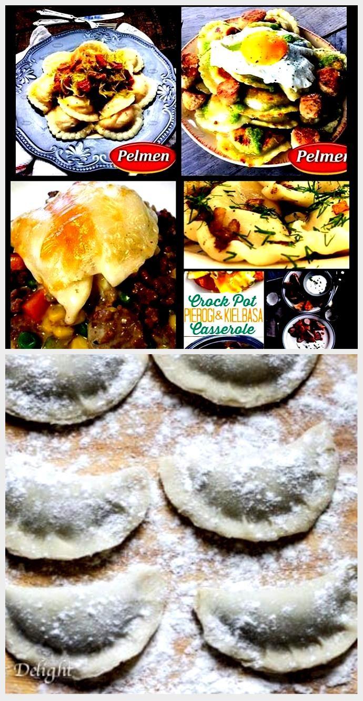 Sausage, Eggs and Garlic Pesto Perogies. Recipe: /recipe Sausage, Eggs and Garlic Pesto Perogies. R