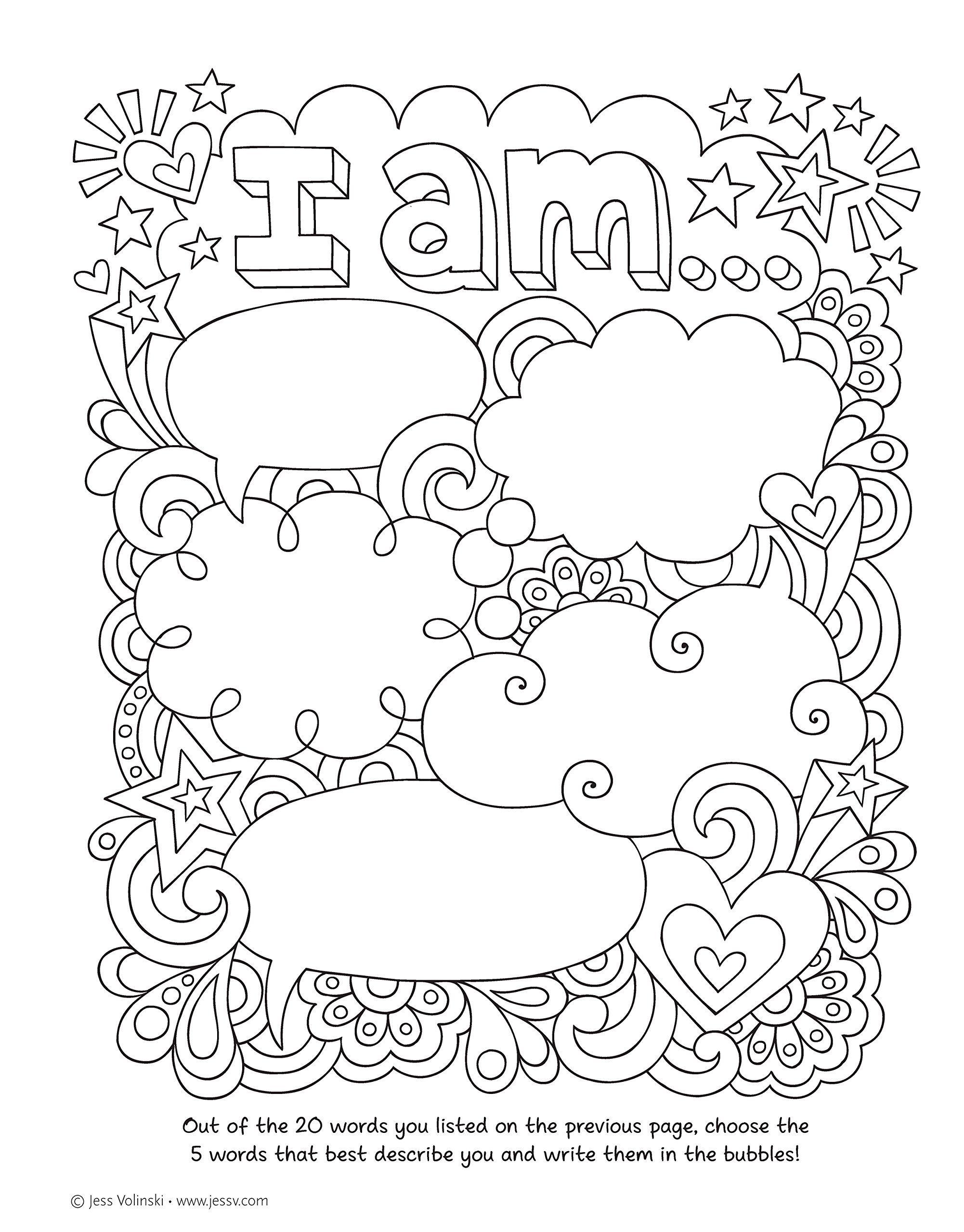 Notebook Doodles Go Girl Coloring