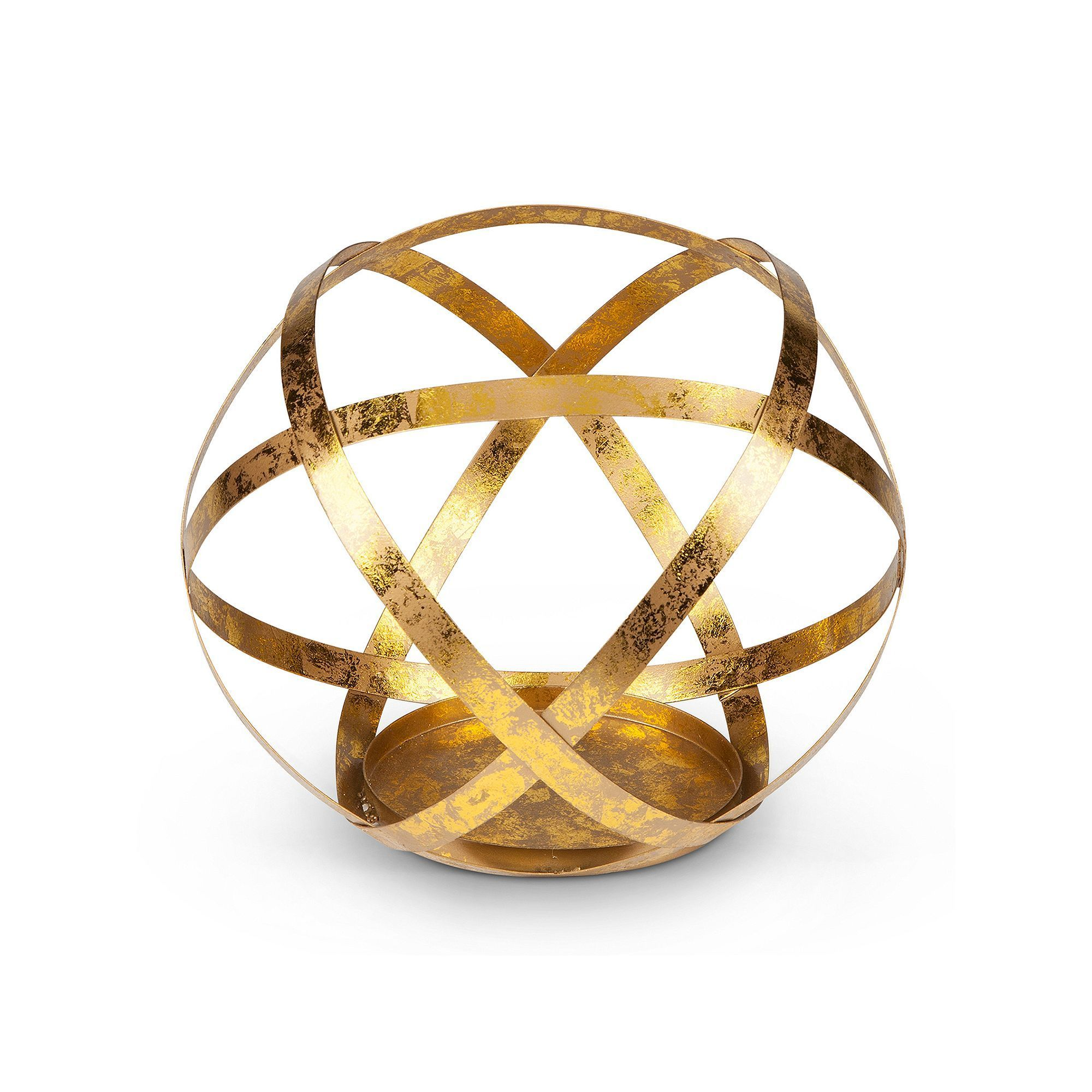 Gold finish sphere large candle holder products large candles and