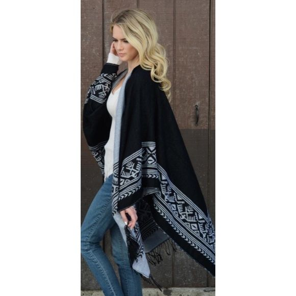 COMING SOON Poncho Cute poncho, OSFM, perfect to pair with skinny jeans and boots.. Kvngspossession Sweaters Shrugs & Ponchos