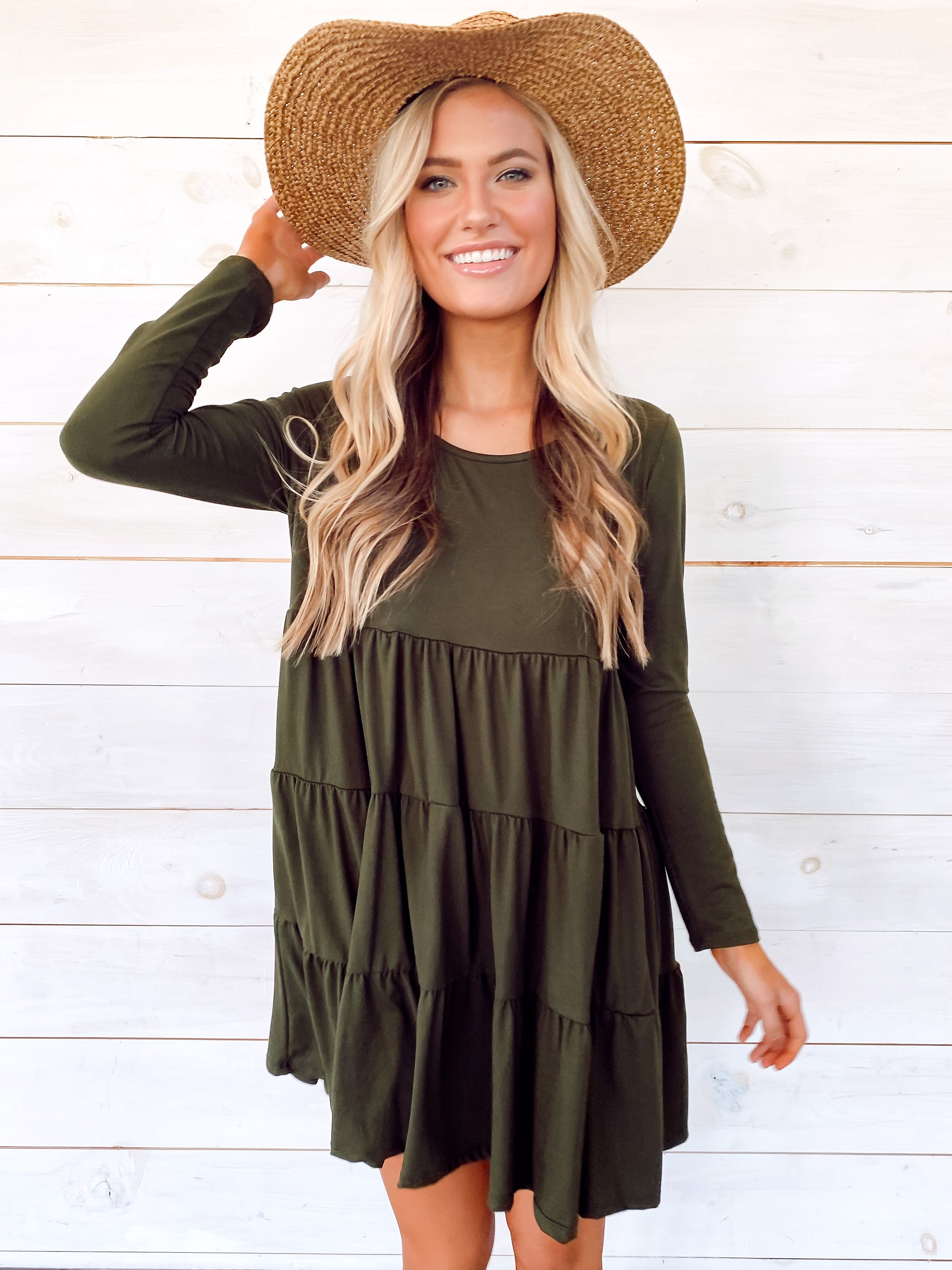 Madeline Tiered Babydoll Dress In 2020 Cute Spring Outfits Dress With Sneakers Babydoll Dress