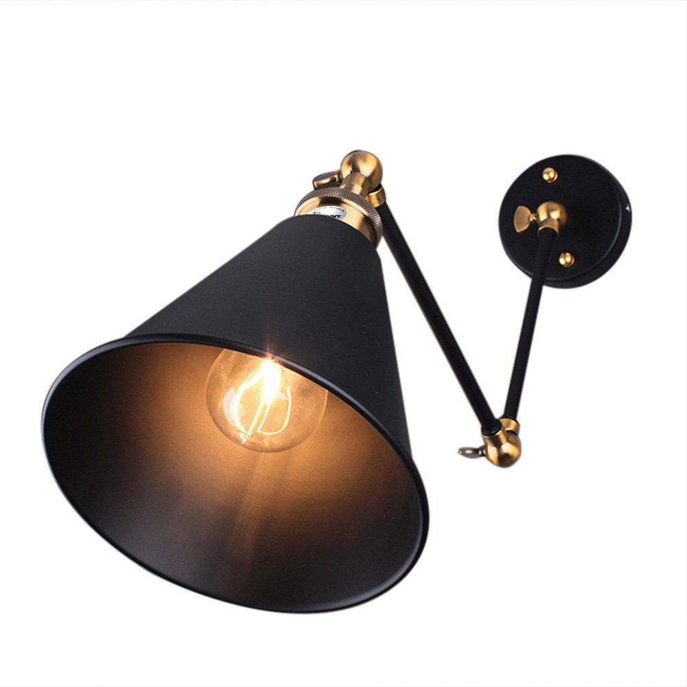 fuloon retro industriel edison simplicit applique lampe murale antique avec abat jour de. Black Bedroom Furniture Sets. Home Design Ideas