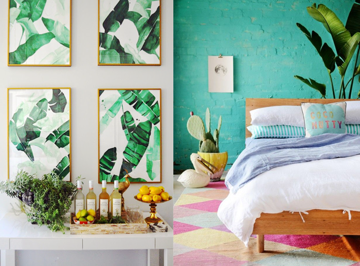 GUEST POST KEY COLOUR TRENDS IN INTERIORS FOR 2017 Tropical