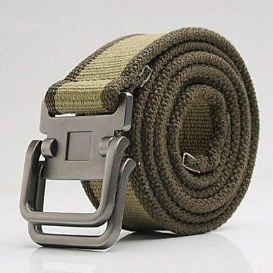 doble hebilla de cinturón de lona de los hombres - MXN $ 175.87