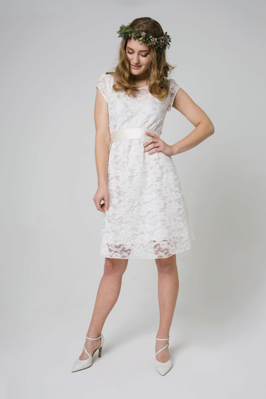 Labude - Brautkleid kurz Short Bridal Dress Amandine Kurzes ...